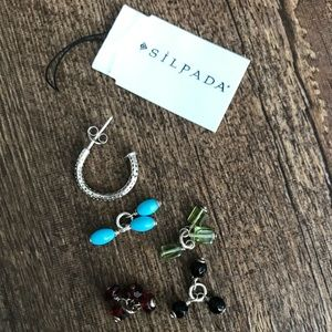 """½"""" Hoop with Glass Charms"""